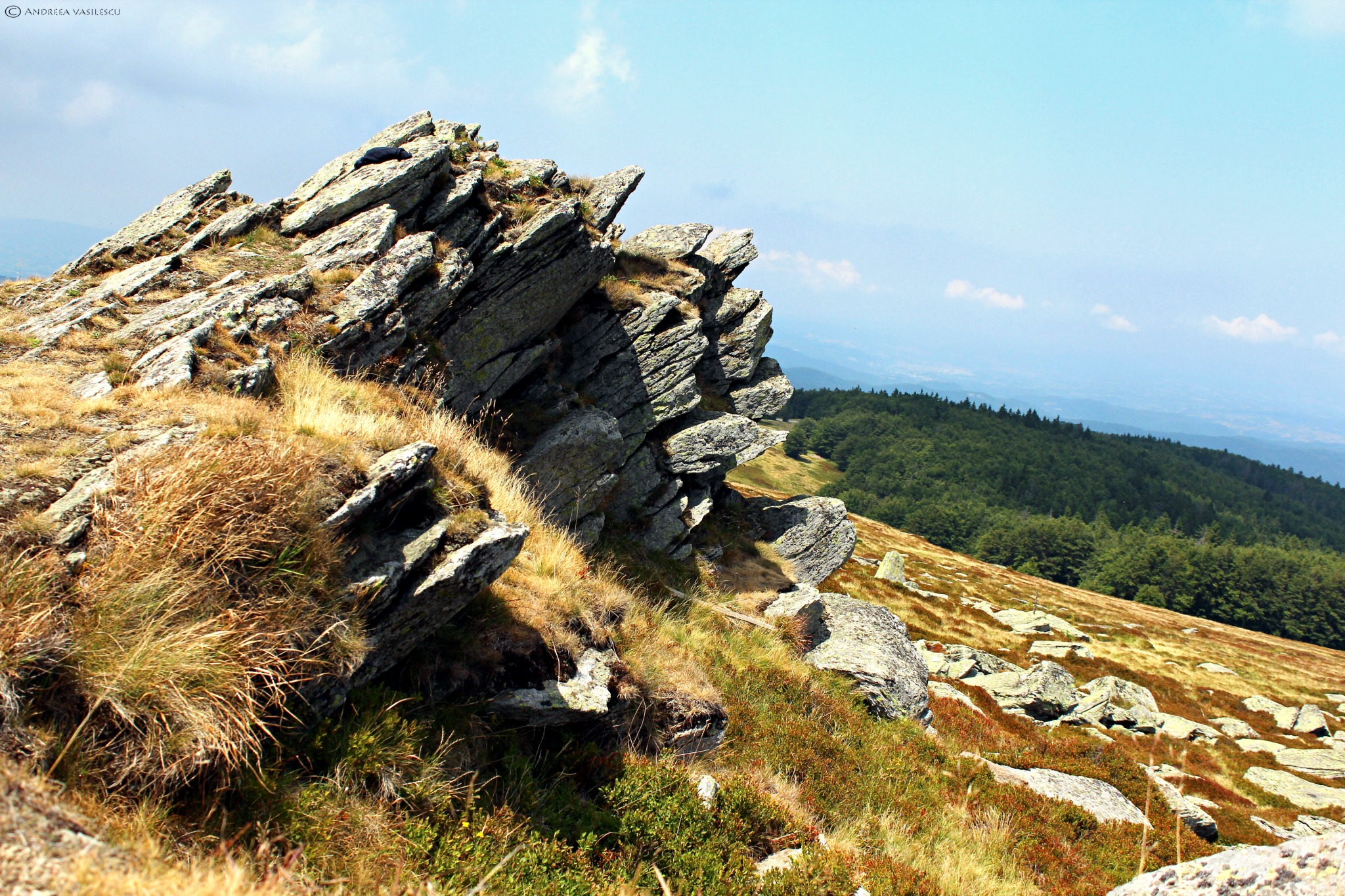 Peak of Semenic. Piatra Goznei 1447m