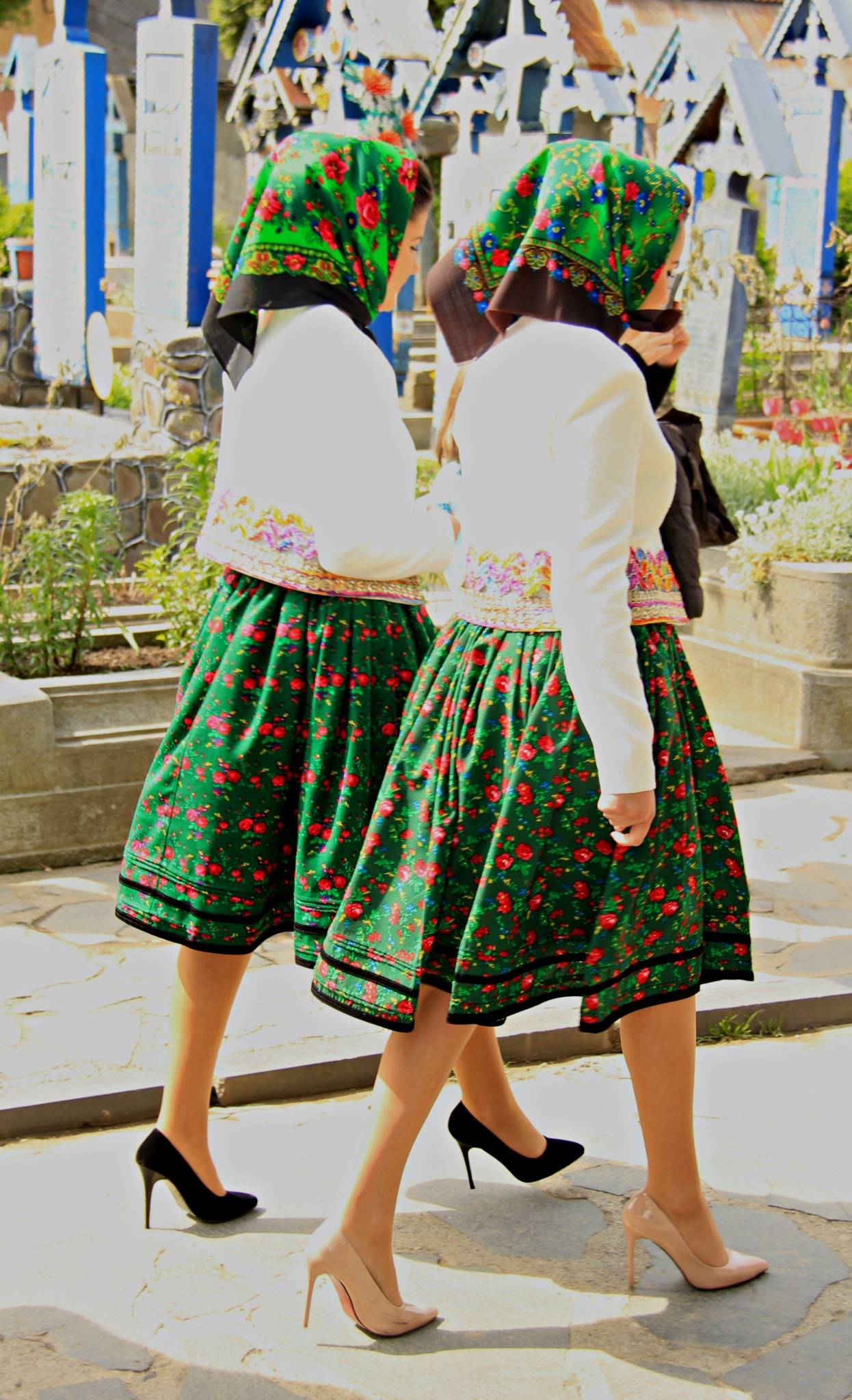 The sexy ladies of Săpânţa village, walking with graciously. Photo by Ovidiu Balaj