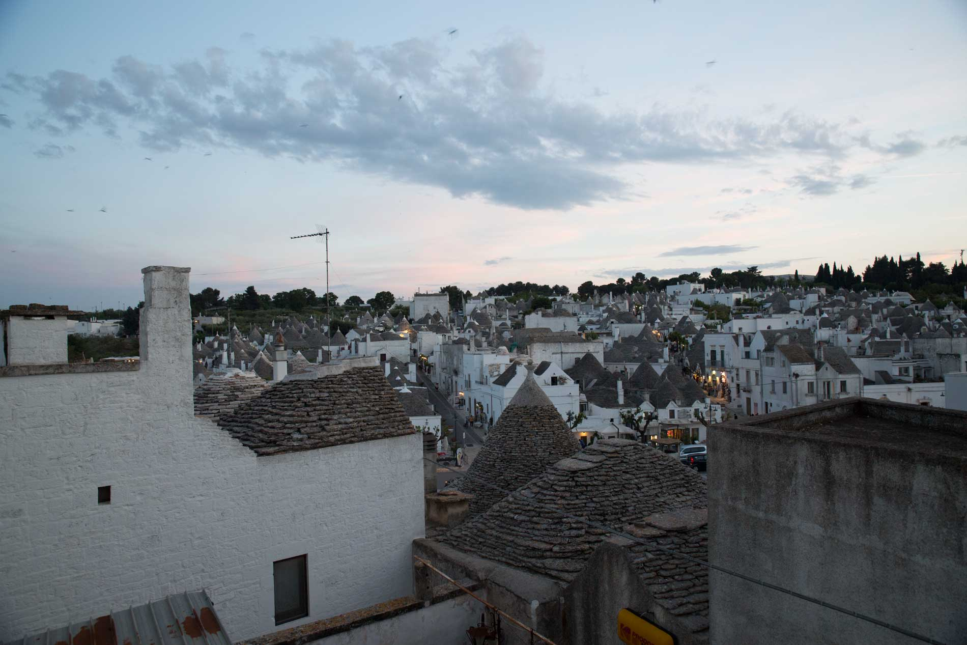 Alberobello at evening time. Photo by Francois
