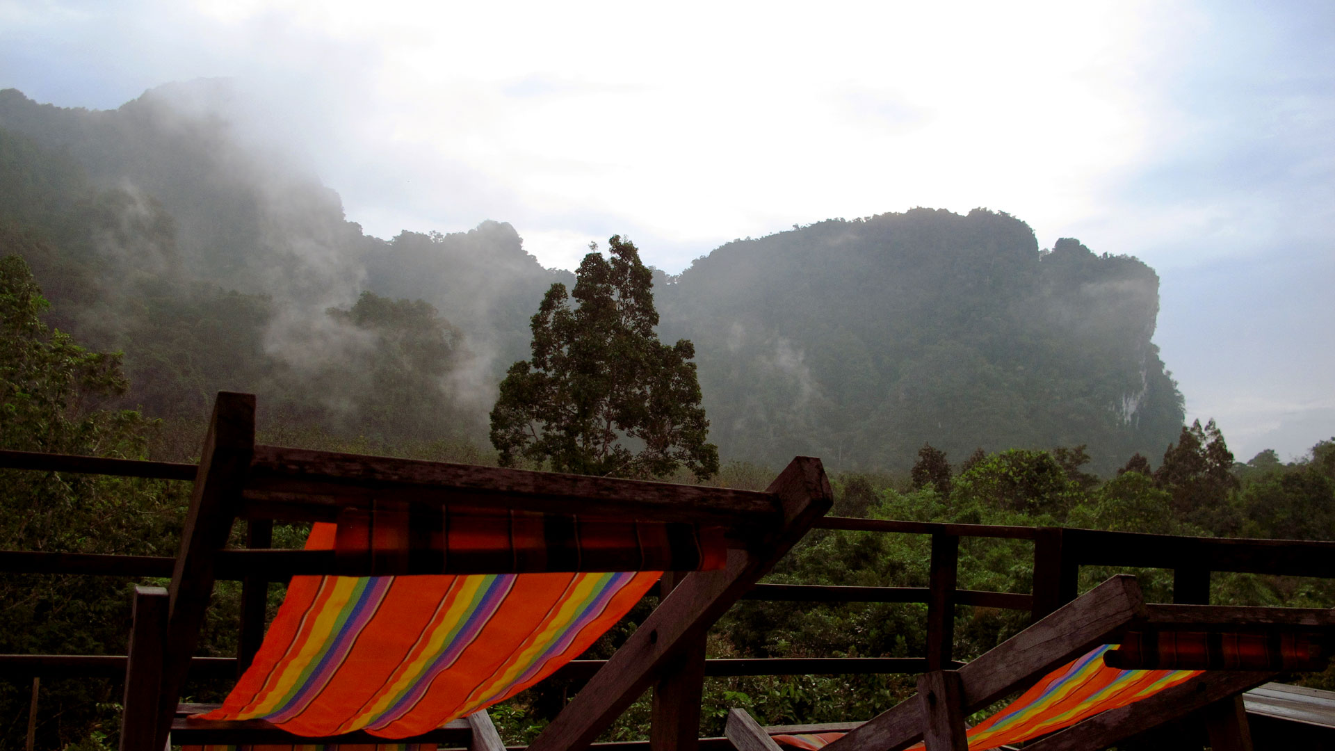 View from my room's balcony in Khao Sok resort. Photo by Ng Siew Cheng