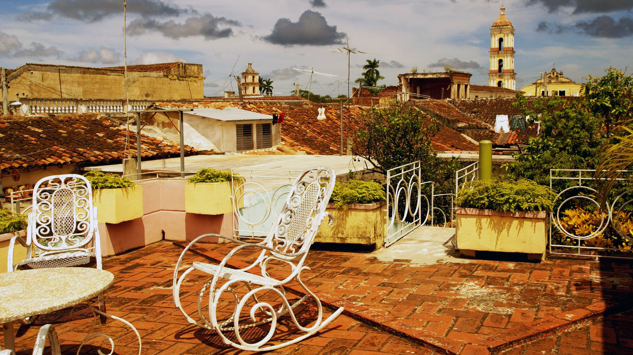 A casa particular's  rooftop in Remedios. Photo by Ovidiu Balaj