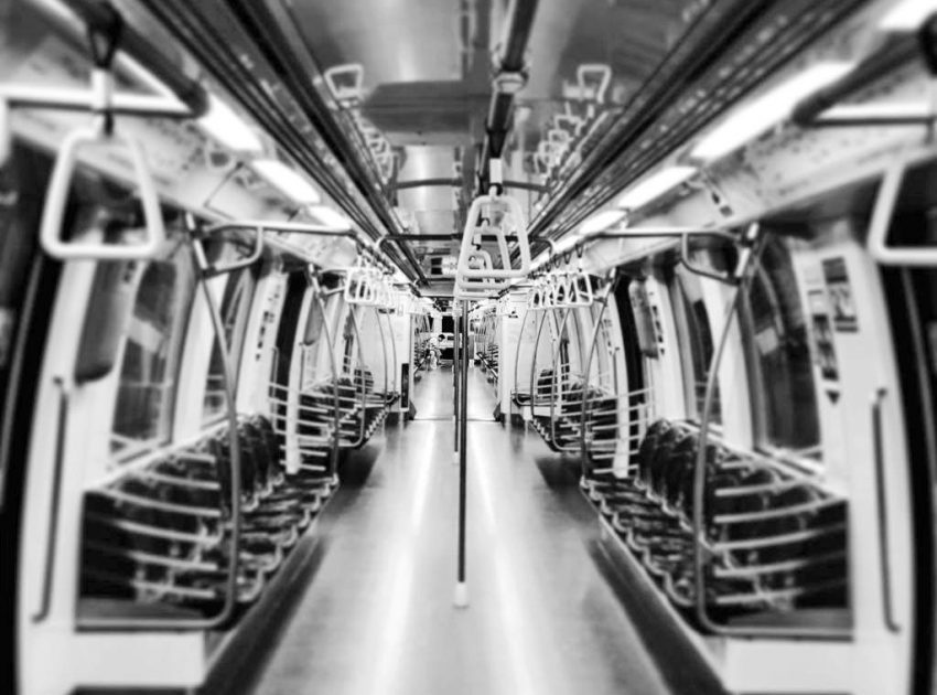 The metro at night time can be quite empty.
