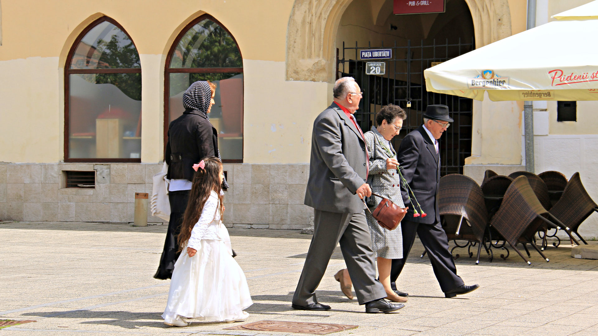 Locals in the city of Baia Mare, dressed up for Easter time. Photo by Ovidiu Balaj